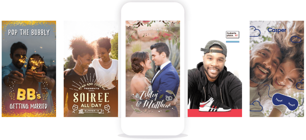 Wedding snapchat filter examples