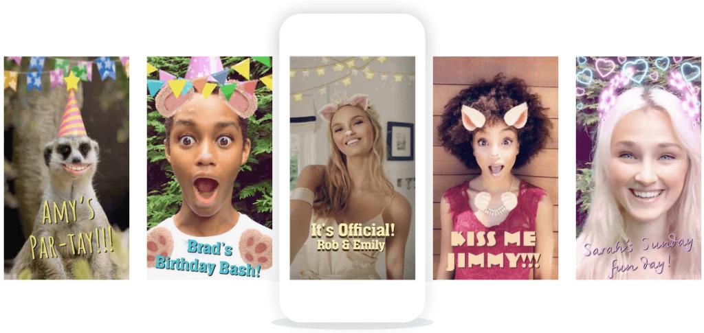 Custom Snapchat lens examples