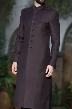 chocolate brown sherwani
